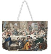 An Election Entertainment, Illustration Weekender Tote Bag by William Hogarth