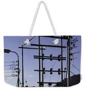 An Electric Transmission Pole In The Himalayas Weekender Tote Bag