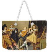An Elegant Company Playing Music In An Weekender Tote Bag by Dirck Hals
