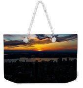 An Empire Sunset Weekender Tote Bag