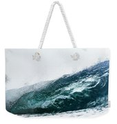 An Empty Wave Breaks Over A Shallow Reef Weekender Tote Bag