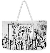 An Execution Of Witches In England Weekender Tote Bag