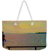 An Expanse Of Sky And Sea Twilight Fishing The Canal St Lawrence River Scenes Art Carole Spandau Weekender Tote Bag