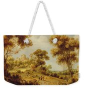 An Extensive Wooded Landscape Weekender Tote Bag