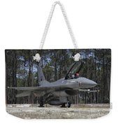 An F-16a Fighting Falcon Weekender Tote Bag