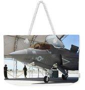 An F-35b Lightning II During Preflight Weekender Tote Bag