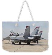 An Fa-18c Hornet Being Readied Weekender Tote Bag