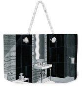 An Illustration Of A Bathroom Weekender Tote Bag