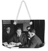 An Immigrant  Being Examined Weekender Tote Bag