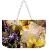 An Iris Surprise Right Weekender Tote Bag