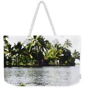 An Isolated Cottage On A Small Piece Of Land Weekender Tote Bag