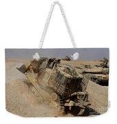 An Israel Defense Force Caterpillar D-9 Weekender Tote Bag