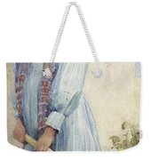 An Italian Peasant Girl Weekender Tote Bag by Ada M Shrimpton
