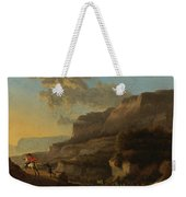An Italianate Landscape With Travellers Ambushed By Bandits Weekender Tote Bag