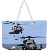 An Mh-60s Sea Hawk Approaches Weekender Tote Bag
