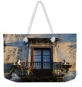 An Old Balcony In Syracuse Weekender Tote Bag