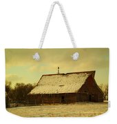 An Old Barn Just After An Early Spring Snow In Keene North Dakota  Weekender Tote Bag