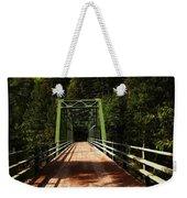 An Old Bridge Crossing The Seleway River  Weekender Tote Bag