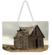 An Old Cabin In Eastern Montana Weekender Tote Bag