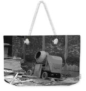 An Old Cement Mixer And Construction Material Weekender Tote Bag