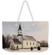 An Old Church In Palermo North Dakota Weekender Tote Bag