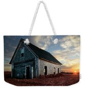 An Old Farm House Sits Partially Buried Weekender Tote Bag