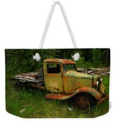 An Old Flatbed Weekender Tote Bag