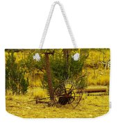 An Old Grass Cutter In Lincoln City New Mexico Weekender Tote Bag by Jeff Swan