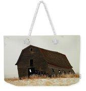 An Old Leaning Barn In North Dakota Weekender Tote Bag by Jeff Swan