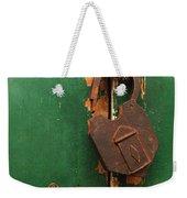 An Old Rusty Lock Weekender Tote Bag
