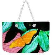 An Orange Butterfly Weekender Tote Bag