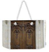 An Ornate Door On The Champs Elysees In Paris France   Weekender Tote Bag