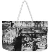 An Outdoor Dining Set Up Weekender Tote Bag