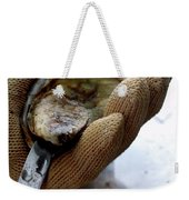 An Oytser Being Shucked Weekender Tote Bag