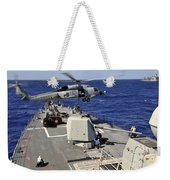 An Sh-60b Sea Hawk Helicopter Picks Weekender Tote Bag