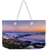 An Undercast Sunset Panorama Weekender Tote Bag