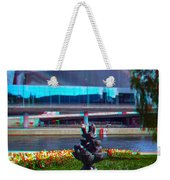 Anaglyph Modern Sculpture Weekender Tote Bag
