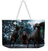 Anaglyph Wild Animals Weekender Tote Bag
