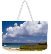 Anakena Beach With Ahu Nau Nau Moai Statues On Easter Island Weekender Tote Bag