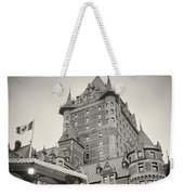 Analog Photography - Chateau Frontenac Quebec Weekender Tote Bag