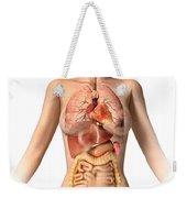 Anatomy Of Female Body With Internal Weekender Tote Bag