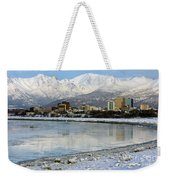 Anchorage Cityscape Weekender Tote Bag