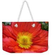 Ancient Flower 4 - Poppy Weekender Tote Bag