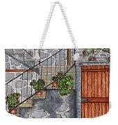 Ancient Grey Stone Residence Weekender Tote Bag