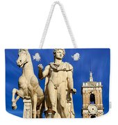Ancient Marble Sculpture Of Castor At The Cordonata Stairs  Weekender Tote Bag