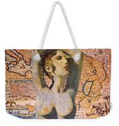 Ancient Middle East Map And Aphrodite Weekender Tote Bag