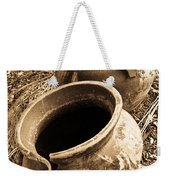 Ancient Pottery In Sepia Weekender Tote Bag