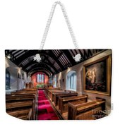 Ancient Welsh Church Weekender Tote Bag by Adrian Evans