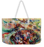 And The Earth Opens Its Mouth Weekender Tote Bag