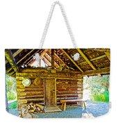 Andrew Berg's Homestead Cabin At Kenai National Wildlife Refuge In Soldotna-alaska Weekender Tote Bag
